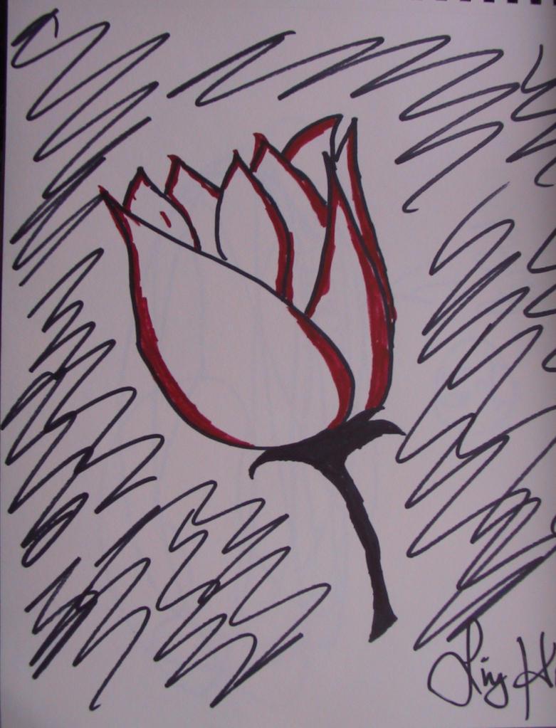 Sharpie Flower by LastChance08 on deviantART Sharpie Art Flowers