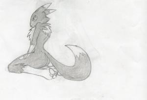 Drawing of Dark Renamon
