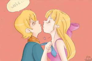Kiss me NOW by Izachian