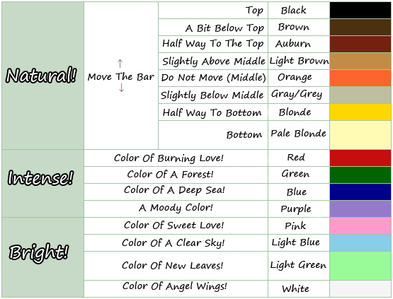 Acnl Hair Colors Acnl Hair Color Guide Animal Crossing