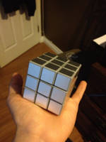 The Sliver Rubik's Cube by 0640carlos