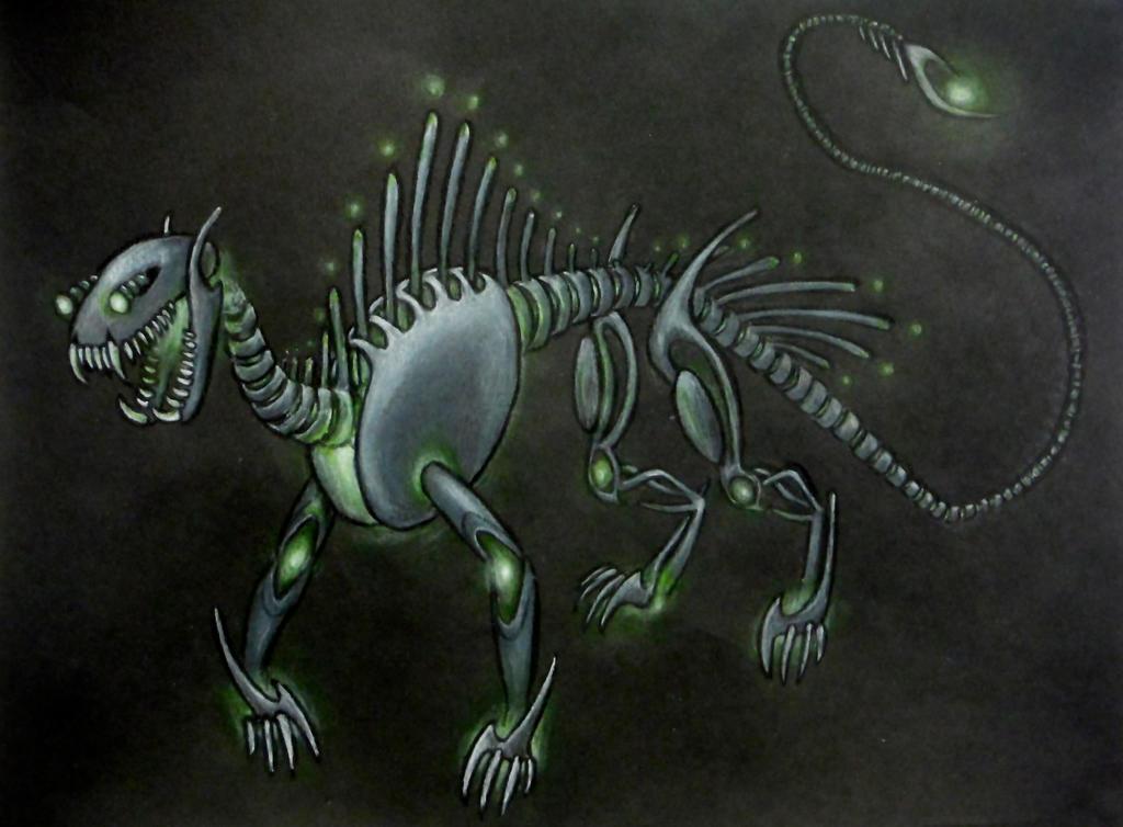 Mechanical dragon by christobet