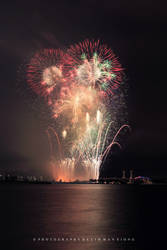 Raining Fireworks by couleur