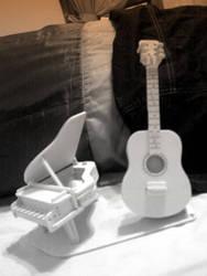 Piano and Guitar by ll-tEYU-ll