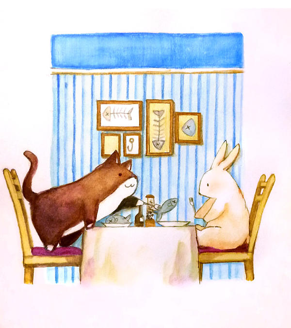 a meal at friend's home by sdPink