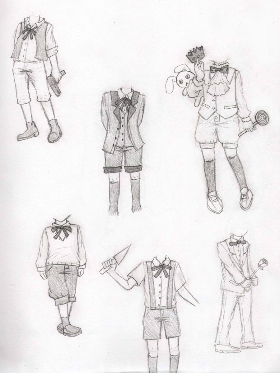 clothing designs by darkalfred on deviantart