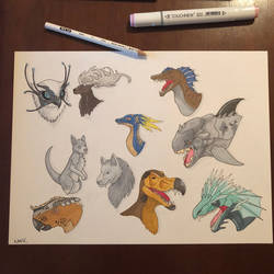 Ark Dinosaurs by ArcanShineTales