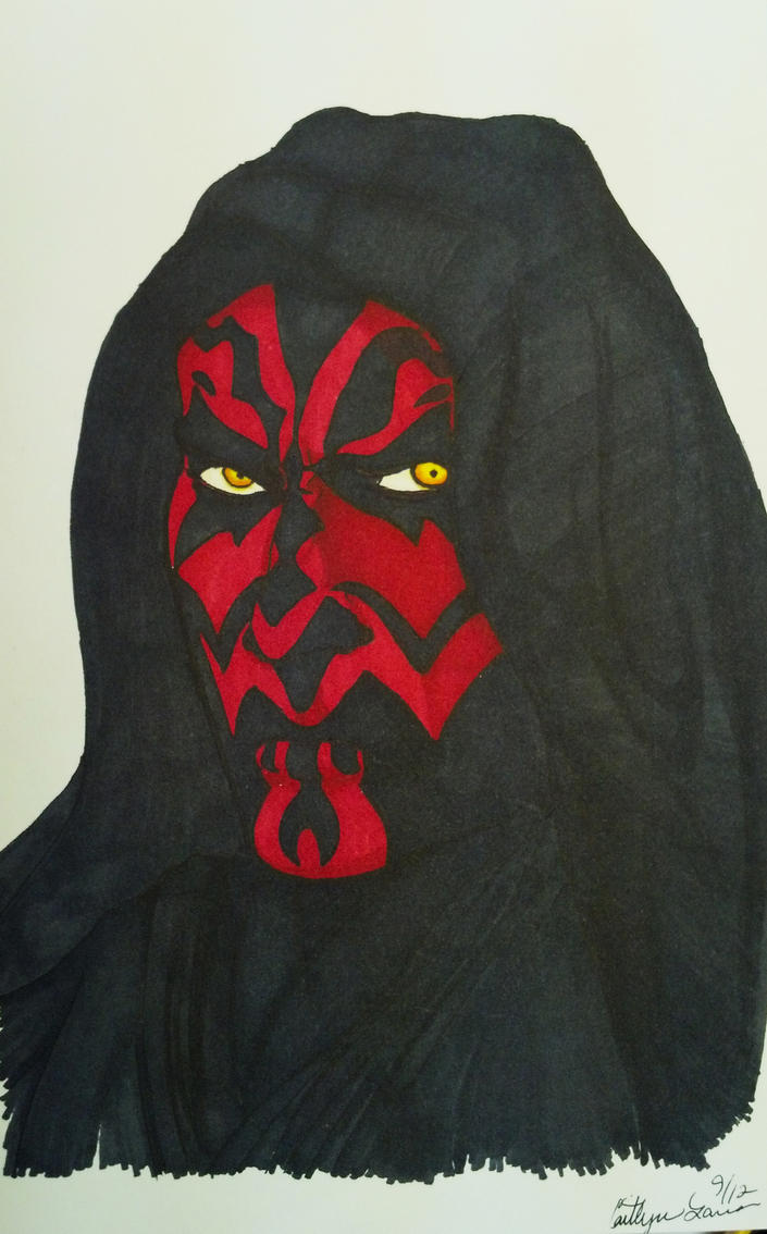 Darth Maul Commish by DeathlyMoonGoddess