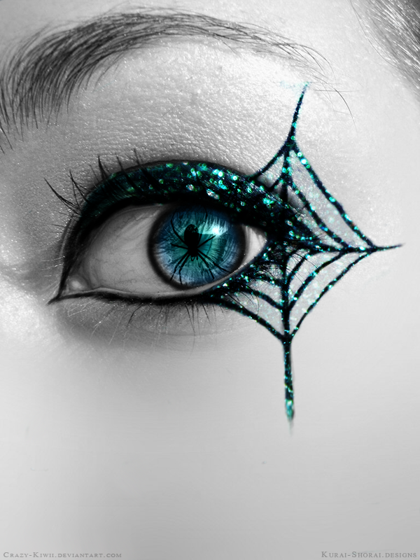 glitter spider eye by crazy kiwii on deviantart. Black Bedroom Furniture Sets. Home Design Ideas