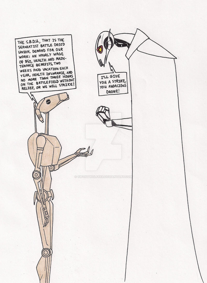 The Separatist Battle Droid Union by 13foxywolf666