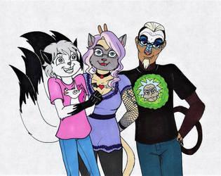 A Bunch of Weirdos by 13foxywolf666