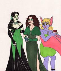 Ladies In Green by 13foxywolf666