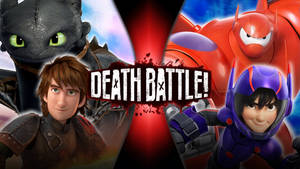 Hiccup and toothless vs hiro and baymax