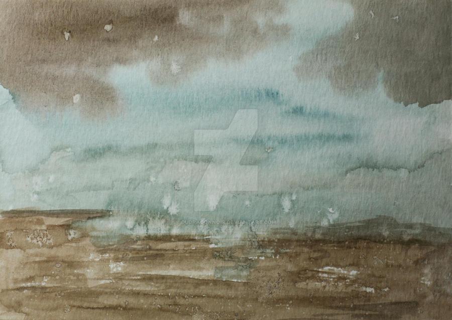 Watercolor landscape by DuDragonNoir