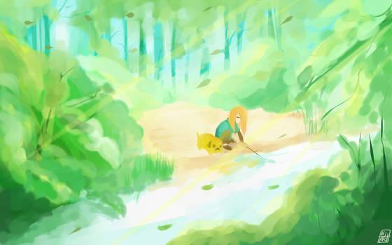 The beginning of adventure