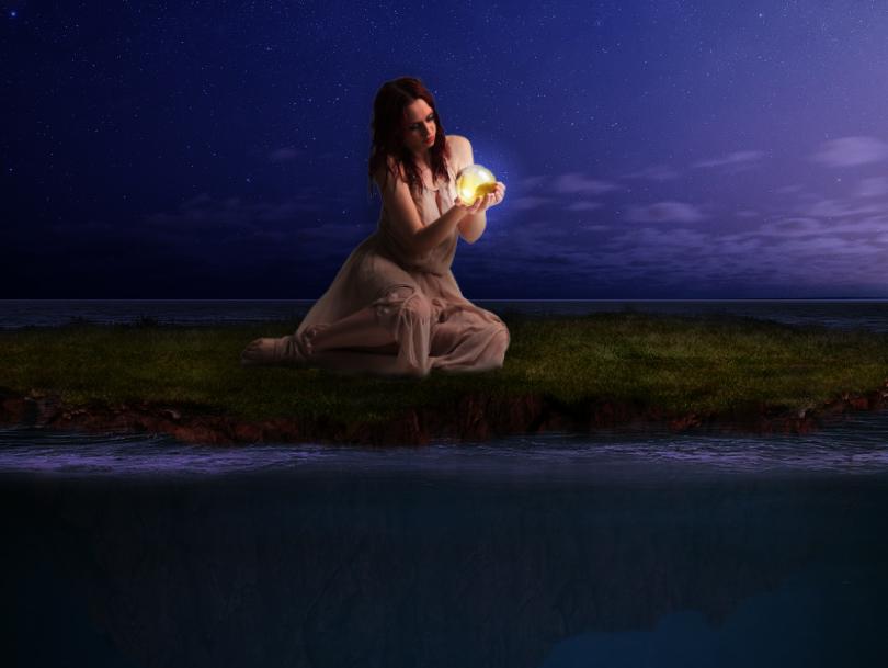 Chica en una isla by lunitame