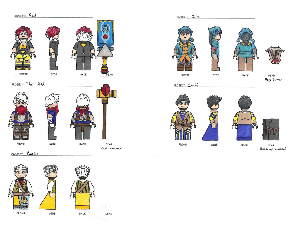 Lego Supergiant Concepts (Bastion and Transistor) by 0nuku