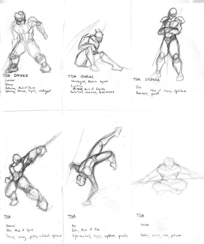 WIP: Toa Kordak Gestures by 0nuku