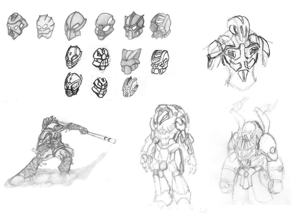 Sketch Dump - Bionicle Art by 0nuku
