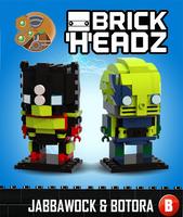 Brickheadz - Jabbawock and Botora by 0nuku