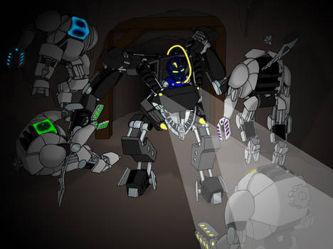Commission: Kivette and the Bohrok Xed
