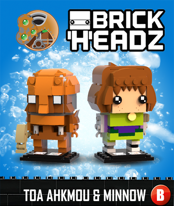 Brickheadz - Toa Ahkmou and Minnow
