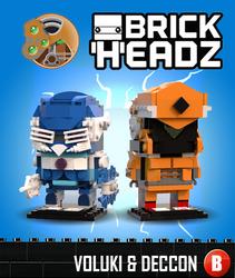 Brickheadz - Voluki and Deccon by 0nuku