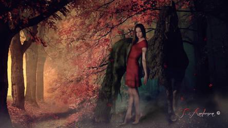 girl-horse-forest by mfcbelt