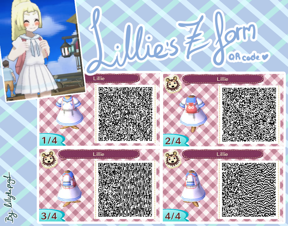 Lillies Z form QR code ACNL/welcome amiibo/HHD by lillythepug1 on
