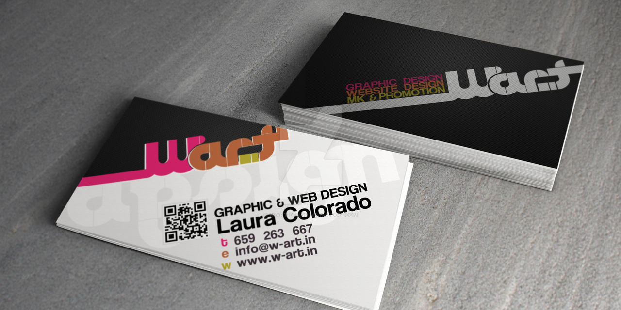 Business Card W-Art by w-art-design on DeviantArt