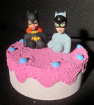 Batgirl and Catwoman cake trap by TeenTitans4Evr
