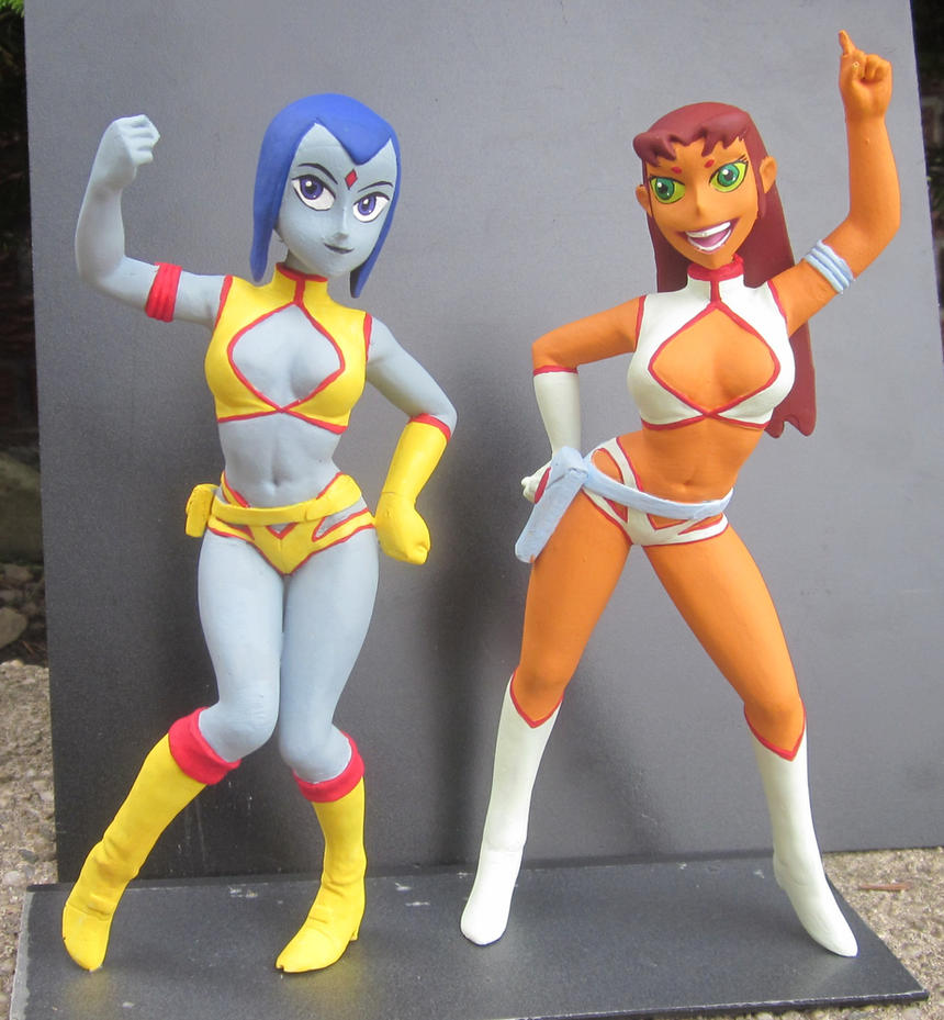raven and starfire cosplay sex