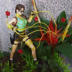 Lara Croft plant peril by TeenTitans4Evr