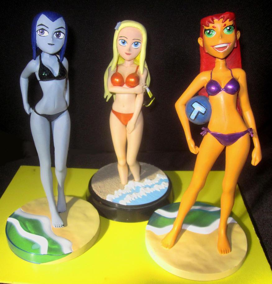 Teen Titans bikini trio by TeenTitans4Evr