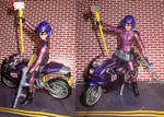 custom Hit-girl and motorcycle by TeenTitans4Evr