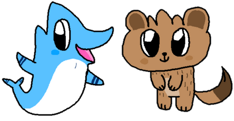 Dolphin and Otter Duo