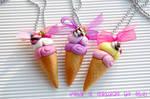 Necklaces fimo  Ice cream