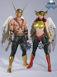 Iray - Heros - Hawkman and Hawkgirl