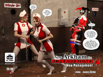 New Arkham for Superheroines 4 New Nanagement by Daniel-Remo-Art