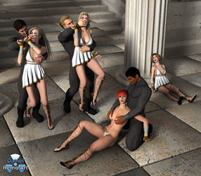 The Invasion of Themyscira 01 by Daniel-Remo-Art