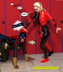Harley Quinn vs Batgirl by Daniel-Remo-Art