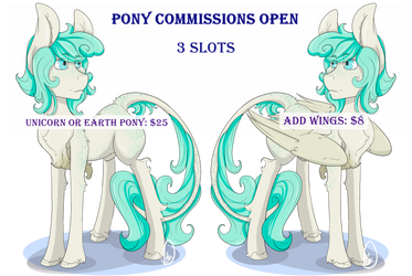 Pony Commissions are Open by DanieFox