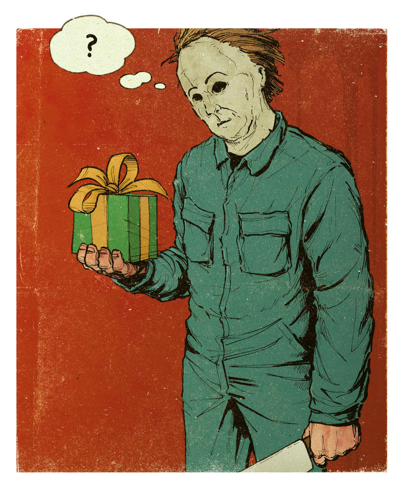 Michael Myers gets a gift. by Buelow