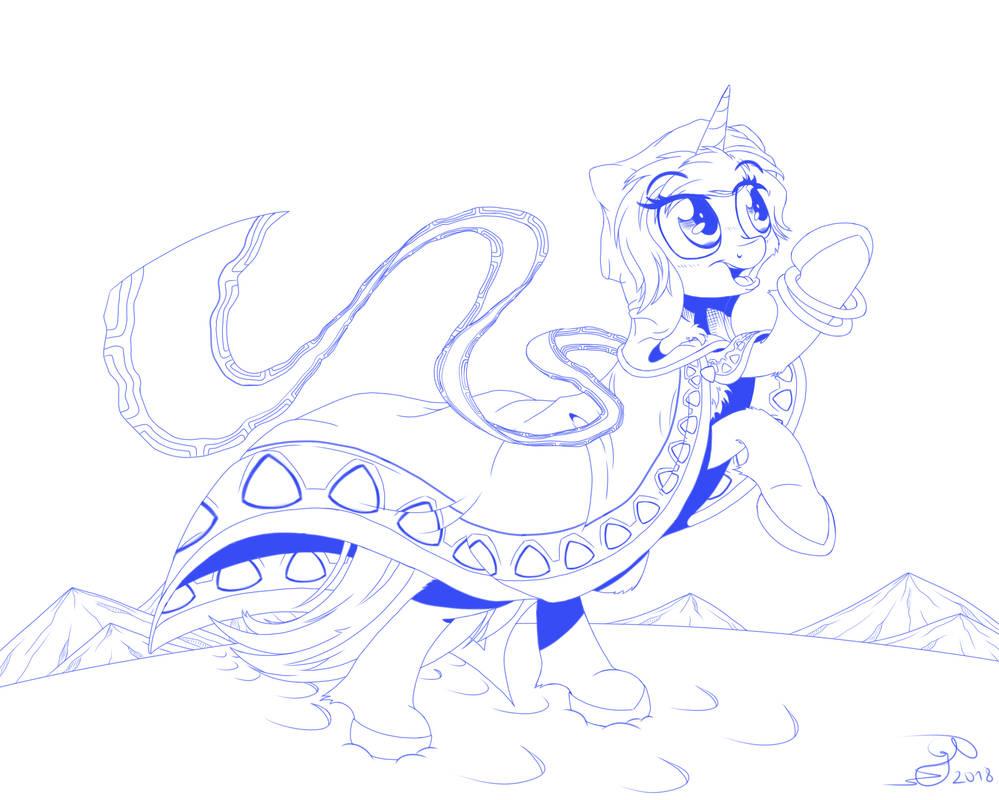 Aurora Borealis sketch by Gray--Day