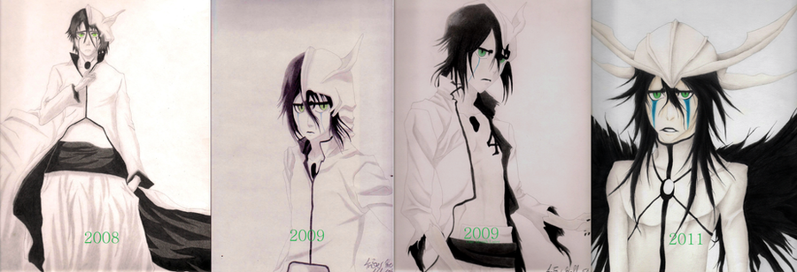 Ulquiorra Improvement Timeline by UlquiorraEspada4