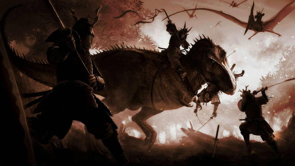 T. Rex Battle by Wolfsitize