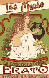 Erato-Art Nouveau poster by aelirenn-kw