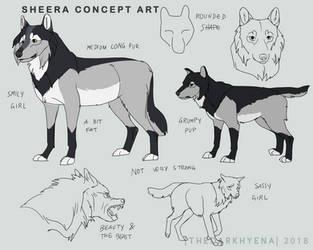 Sheera Concept Art by TheDarkHyena