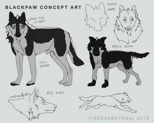 Blackpaw Concept Art by TheDarkHyena