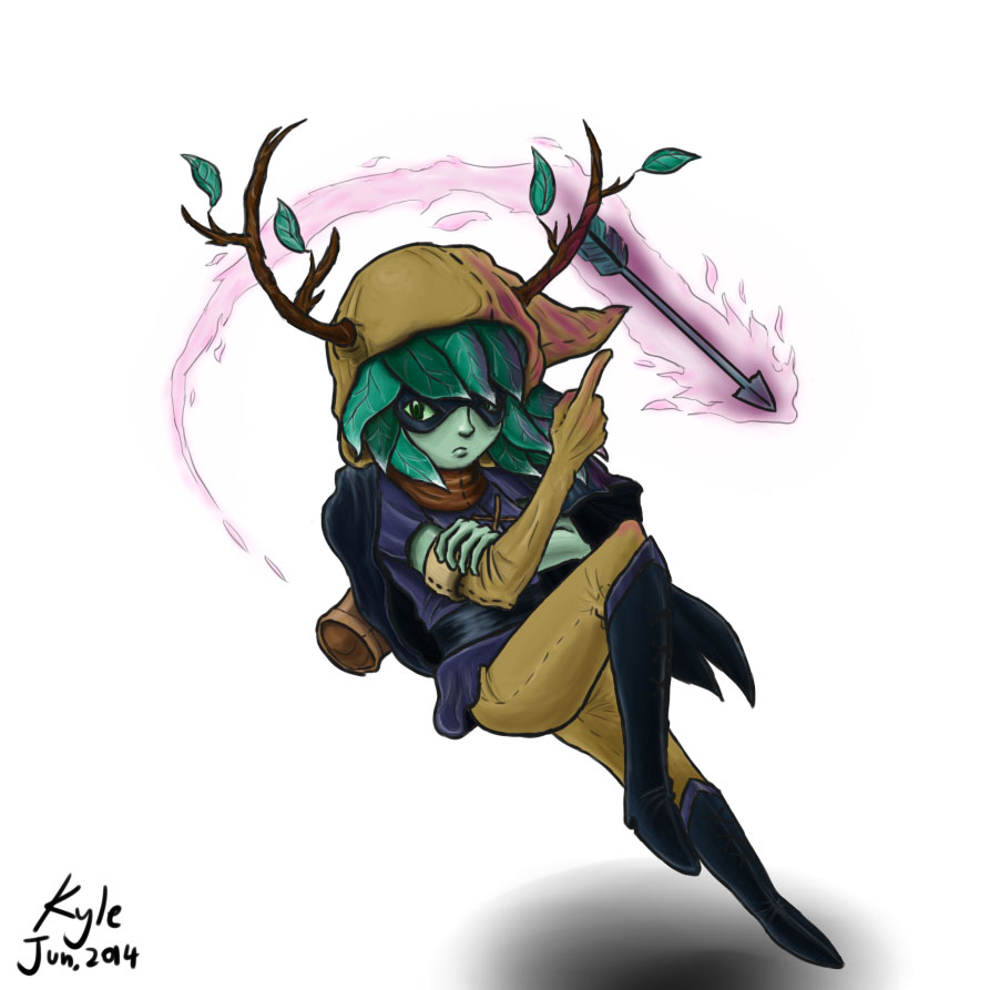 Huntress Wizard - Adventure Time by DC-KMOS